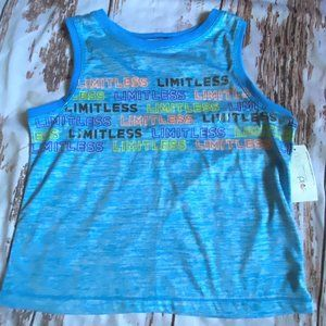 Ideology girls athletic tank top-blue-size 14